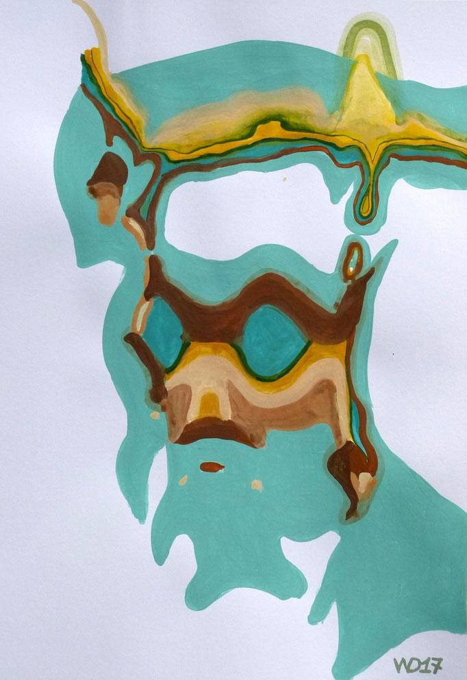 Ultra orthodox - 35 x 50 cm  Acrylfarbe auf`s Papier    99.00 €