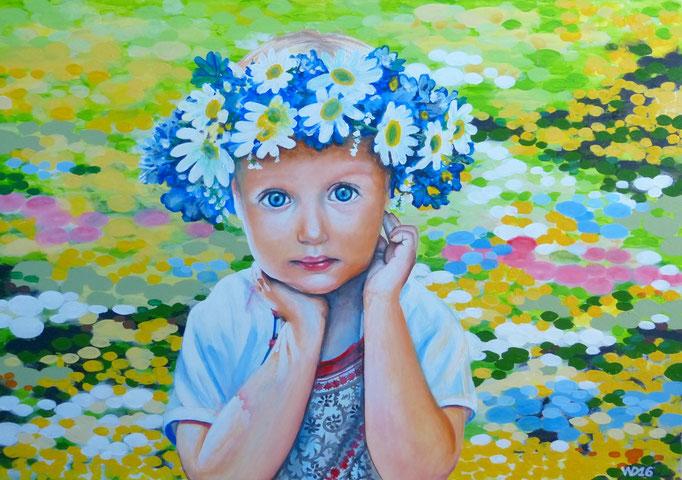Guck mich an - 70 x 100 cm  Acrylfarbe auf Leinwand   190.00 €