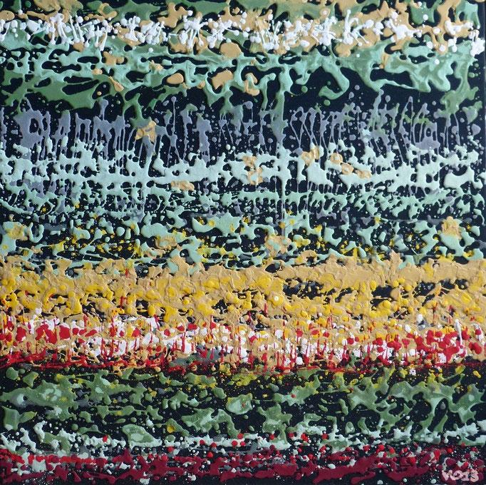 ICH WERDE ES WIEDER ... -  80 x 80cm  Acrylfarbe, Strukturpaste, Schlussfirnis.  70.00 €