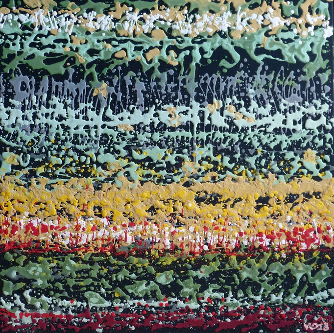ICH WERDE ES WIEDER ... -  80 x 80cm  Acrylfarbe, Strukturpaste, Schlussfirnis.  70 €