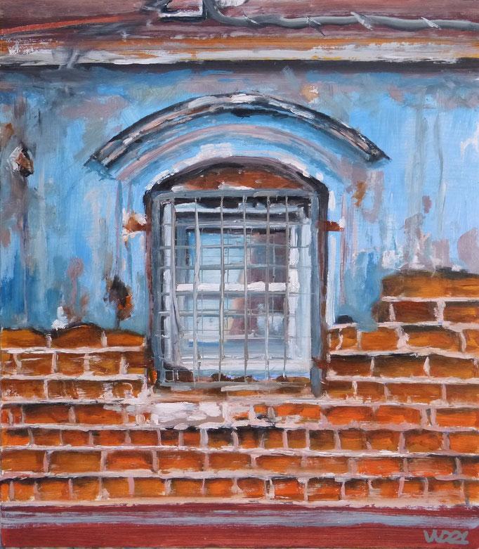 Fenster - 40 x 46 cm  Ölfarbe, 3mm MDF-Platte  90.00€