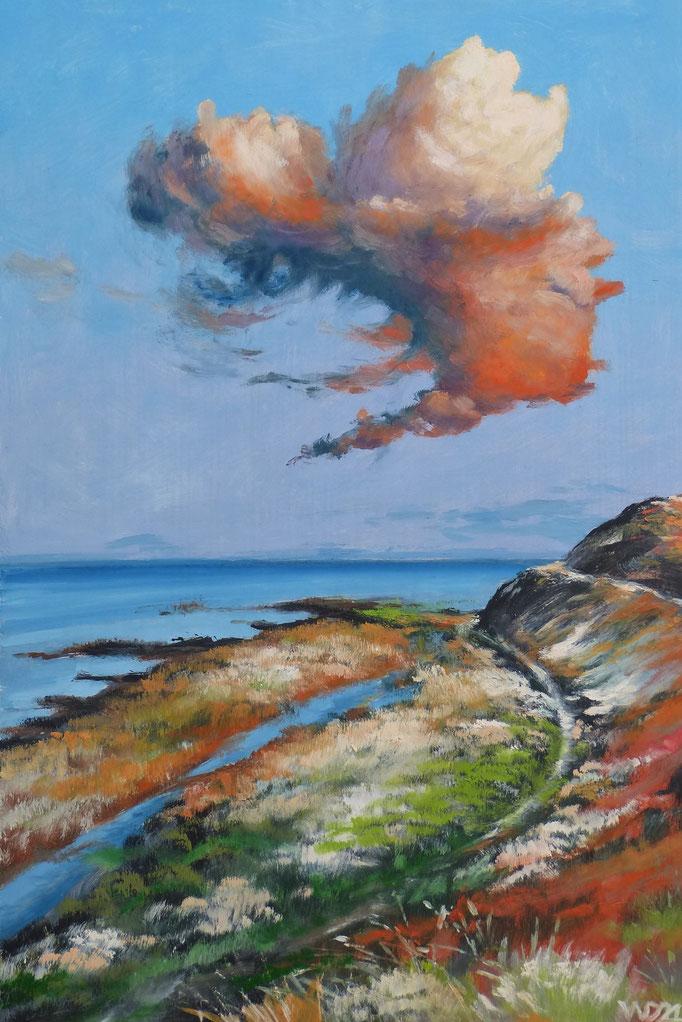 Die Wolke - 40 x 60 cm  Ölfarbe, 3mm MDF-Platte  130.00€