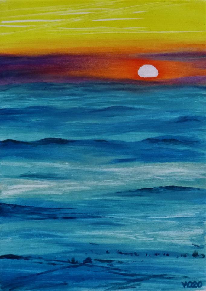 Sunset 79 - 24 x 33 cm  Ölfarbe auf Papier   45.00 €