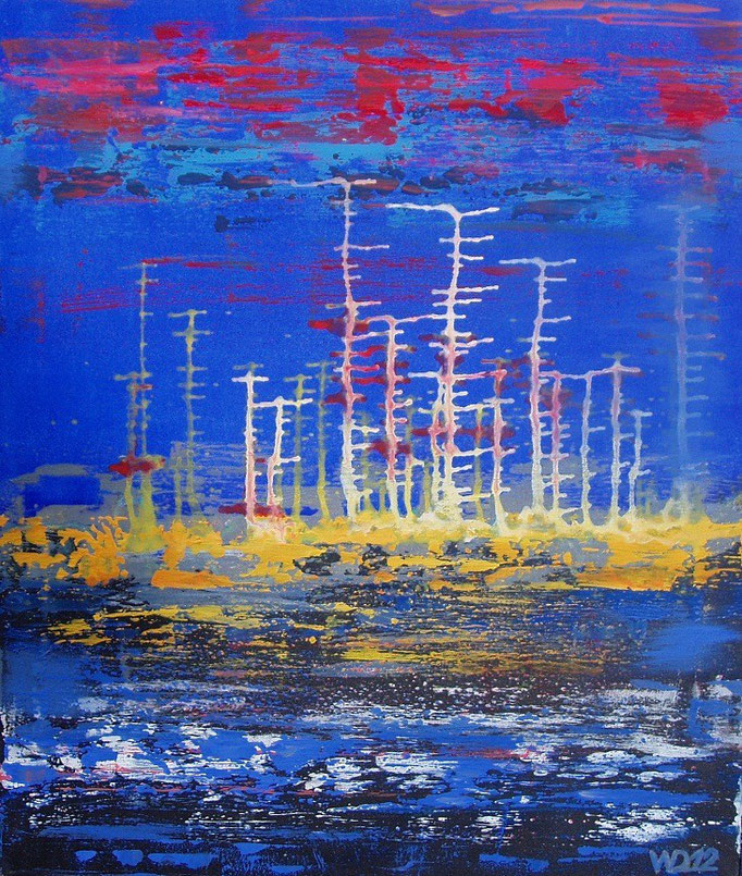 BEFORE MIDNIGHT  -  60 x 70 cm Acrylfarbe, Schlussfirniss. 80.00 €