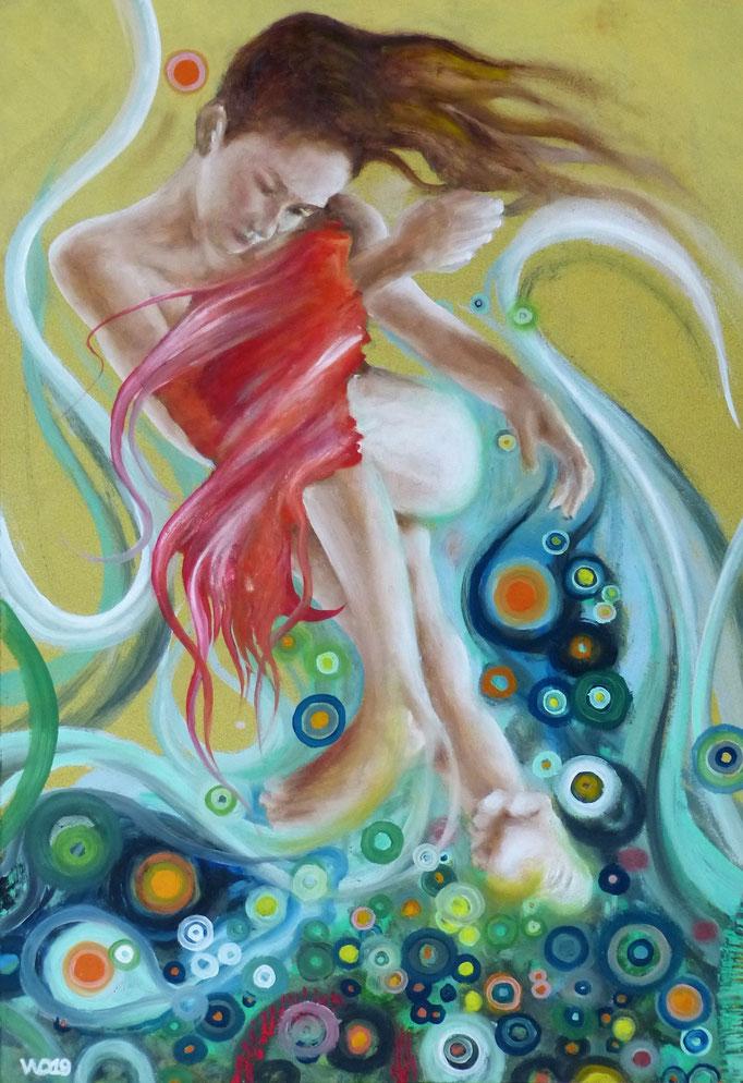 Farbige Träume 3 - 70 x 49 cm  Öl auf 3mm MDF-Platte    250.00 €