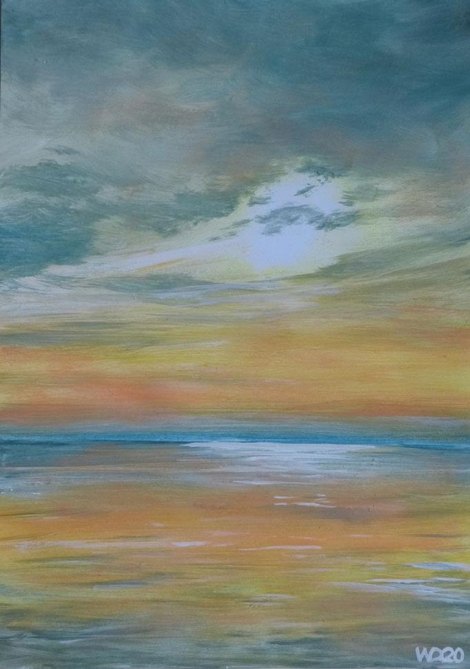 Sunset 57 - 24 x 33 cm  Ölfarbe auf Papier   45.00 €