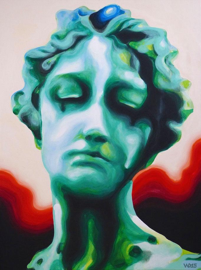 Die Trauer -  60 x 80cm   Acrylfarbe, Schlussfirnis   190 €