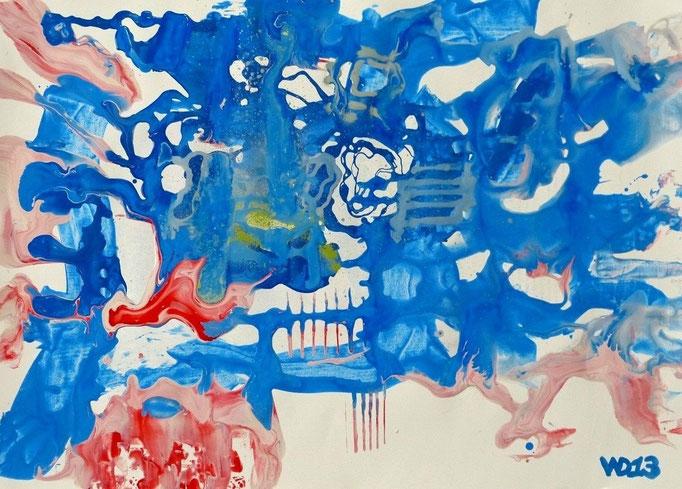 1225 - 48 x 67 cm  Acrylfarbe, Papier   33.00 €