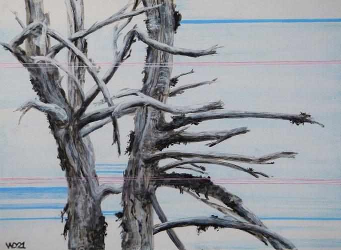 Lebenslang zusammen - 48 x 65 cm  Acrylfarbe, 3mm MDF-Platte  140.00€