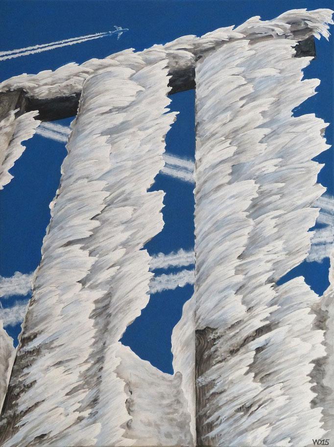 Winterkapriolen - 60 x 80cm  Acrylfarbe, Leinwand, Schlussfirnis  280.00 €