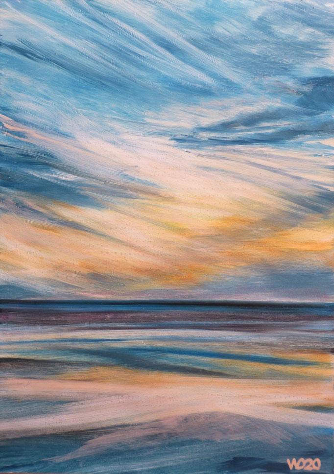 Sunset 53 - 24 x 33 cm  Ölfarbe auf Papier   45.00 €