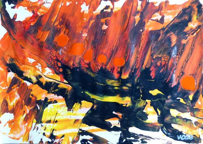 1219 - 48 x 67 cm  Acrylfarbe, Papier   88.00 €