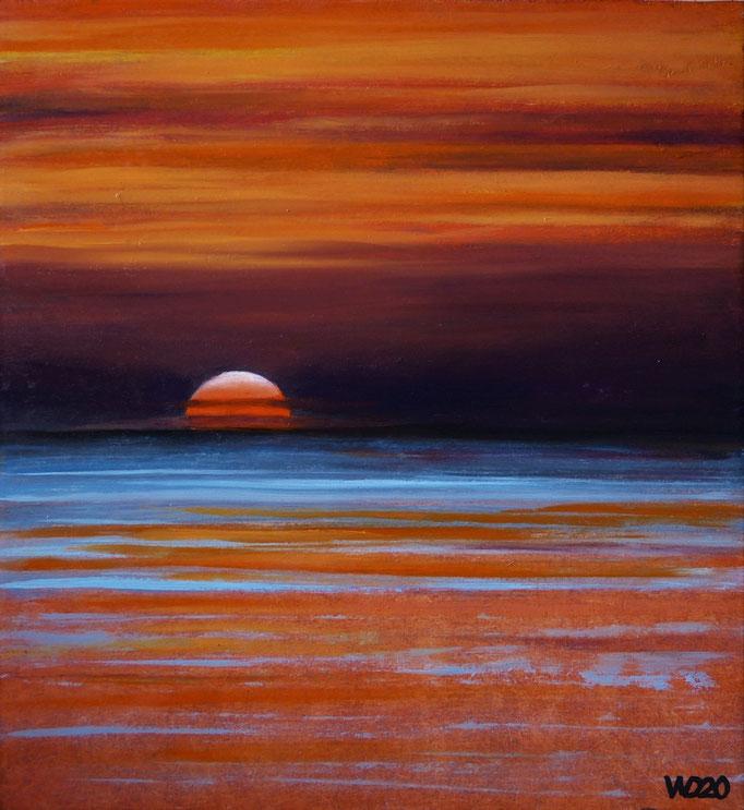 Sunset 3 - 285 x 305 mm  Ölfarbe auf 3mm MDF-Platte   45.00 €