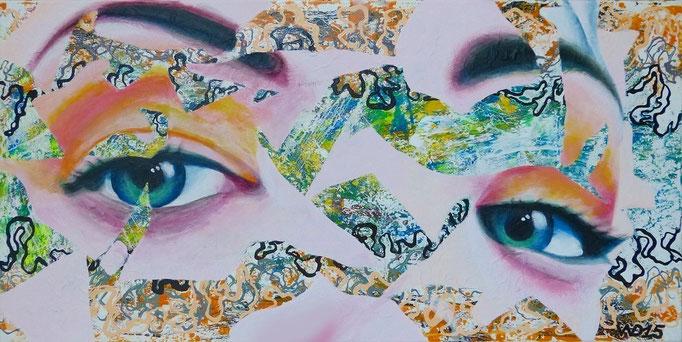 Geheimnisvolle -  40 x 80cm Acrylfarbe, Schlussfirnis  130€