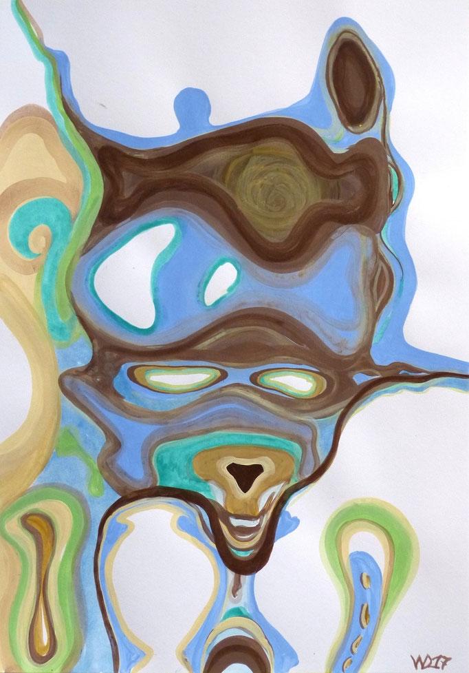 Waschbär - 35 x 50 cm  Acrylfarbe auf`s Papier    49.00 €