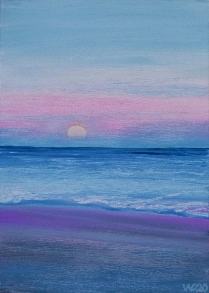 Sunset 48 - 24 x 33 cm  Ölfarbe auf Papier   45.00 €