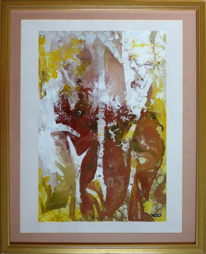 1212 - Mit Bilderrahmen!!! Bildmaße: 40 x 60 cm Bilderrahmen aus Holz, verglast, mit Passepartout (sehr edel! ) Maße: 65 x 80 cm   55.00 €