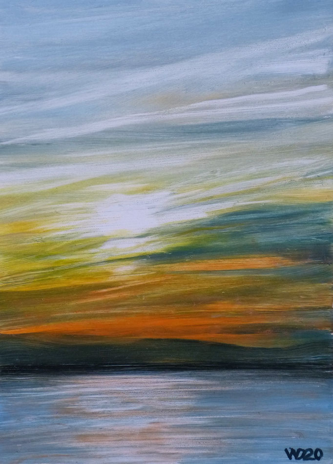 Sunset 73 - 24 x 33 cm  Ölfarbe auf Papier   45.00 €