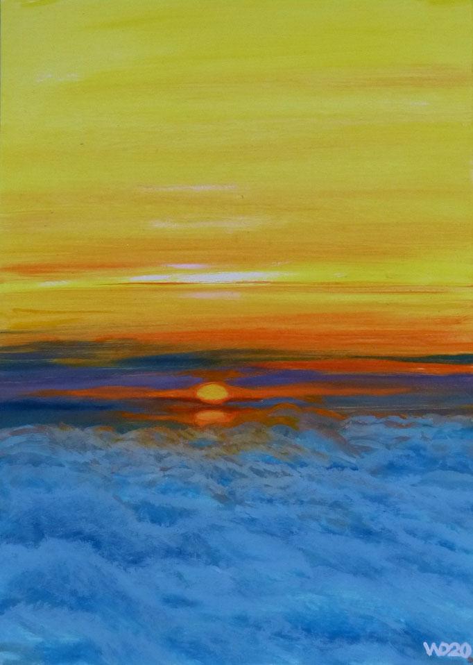 Sunset 45 - 24 x 33 cm  Ölfarbe auf Papier   45.00 €