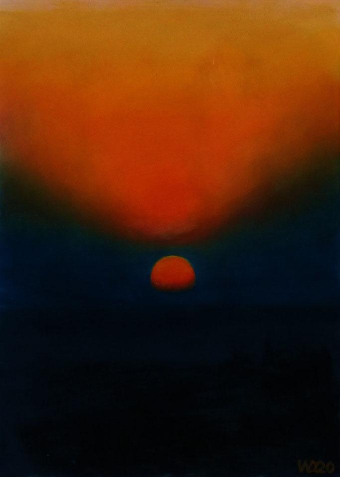 Sunset 11 - 24 x 33 cm  Ölfarbe auf Papier   45.00 €
