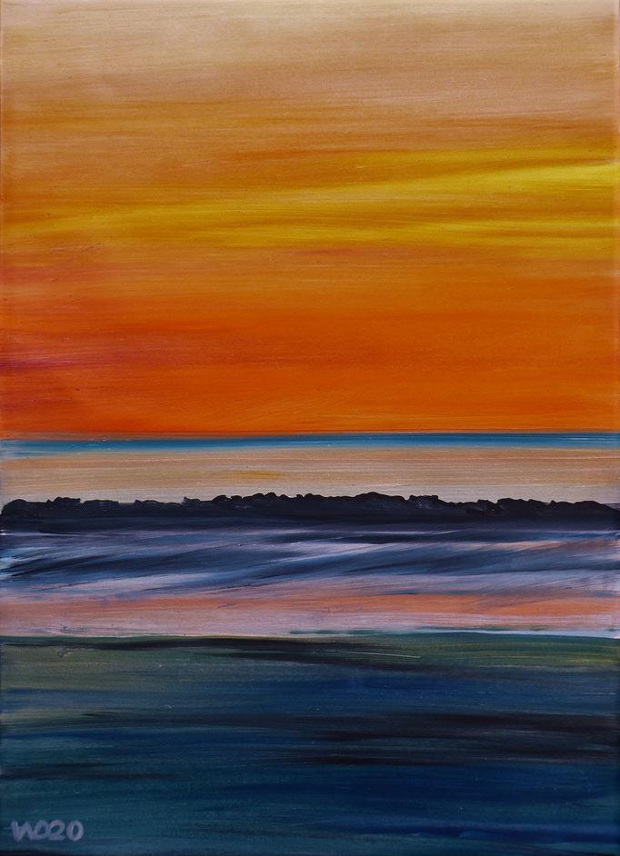Sunset 56 - 24 x 33 cm  Ölfarbe auf Papier   45.00 €