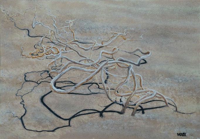 Sahara -  70 x 100cm  Acrylfarbe, Leinwand, Schlussfirnis   400.00 €