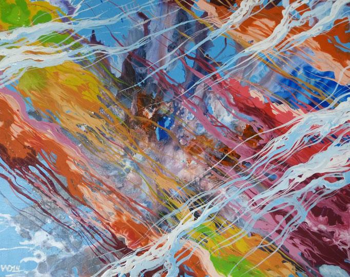 GIB AIDS KEINE CHANCE - 68 x 87 x 2,5 cm  Acrylfarbe, Schlussfirnis, Hartfaserplatte auf Holzrahmen, Schlussfirnis  119 €