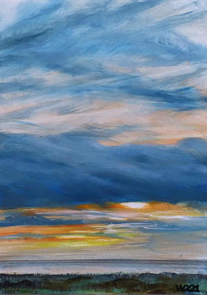 Sunset 85 - 24 x 33 cm  Ölfarbe auf Papier   45.00 €