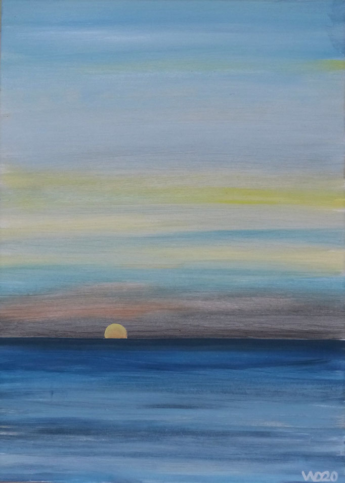 Sunset 46 - 24 x 33 cm  Ölfarbe auf Papier   45.00 €