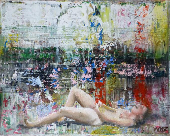 Entspannung am Abend  - 23 x 30 cm Öl auf Leinwand   100.00 €