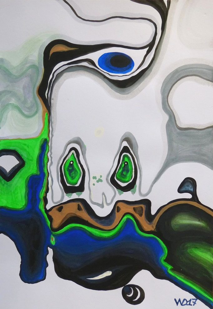 Homer something different  - 35 x 50 cm  Acrylfarbe auf`s Papier    99.00 €