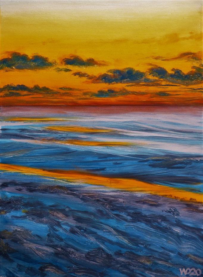 Sunset 54 - 24 x 33 cm  Ölfarbe auf Papier   45.00 €
