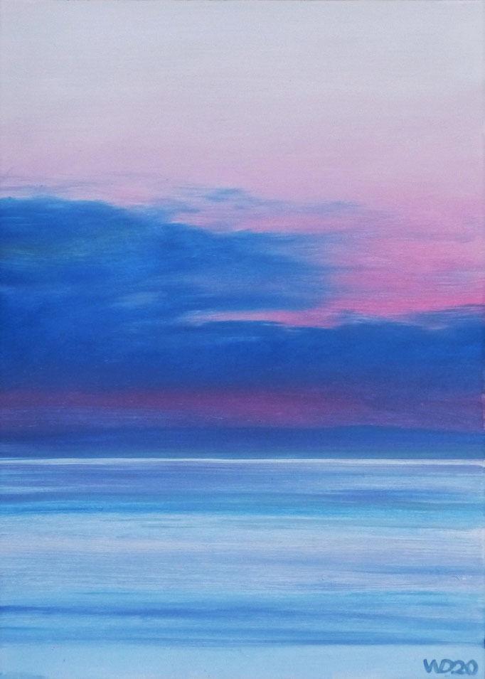 Sunset 49 - 24 x 33 cm  Ölfarbe auf Papier   45.00 €