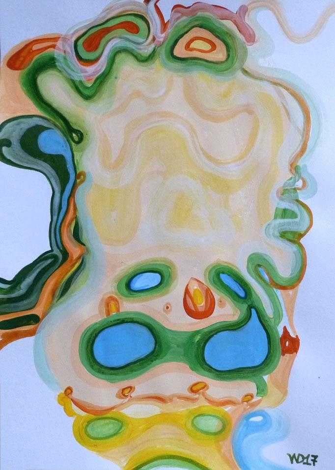 Ghost - 35 x 50 cm  Acrylfarbe auf`s Papier    99.00 €
