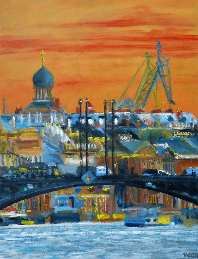 The Palace Bridge - 50 x 65cm  Ölfarbe, 3mm MDF-Platte   150.00€