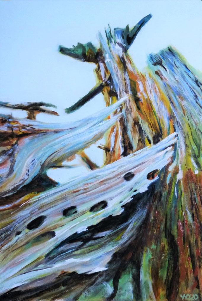 Durchgelocht - 39 x 59cm  Ölfarbe, 3mm MDF-Platte  140.00€