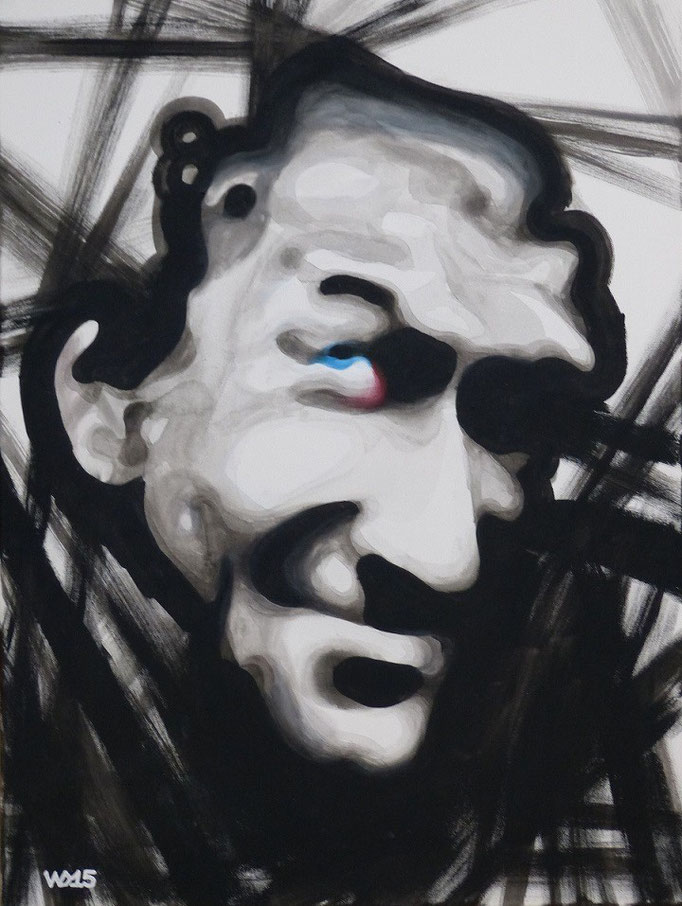 Alter Meister (El Diablo) -  60 x 80cm Acrylfarbe, Schlussfirnis  190€