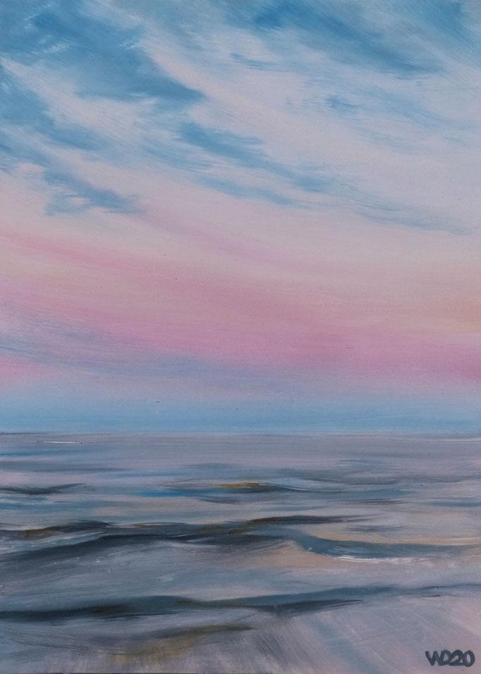 Sunset 70 - 24 x 33 cm  Ölfarbe auf Papier   45.00 €