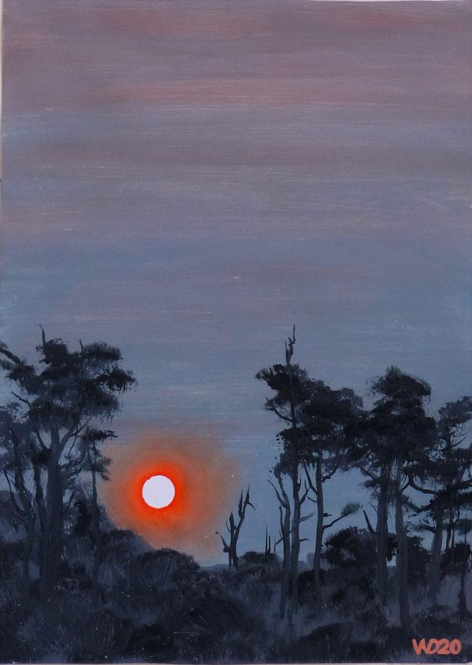 Sunset 28 - 24 x 33 cm  Ölfarbe auf Papier   45.00 €