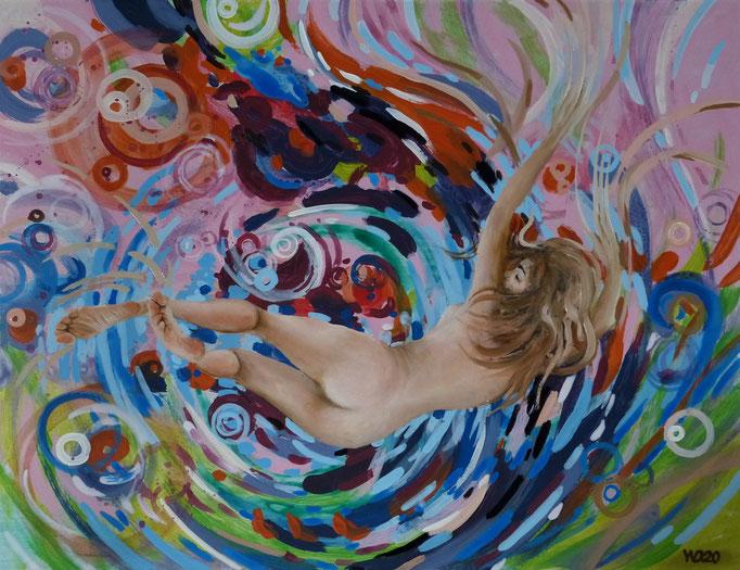 Farbige Träume 4 - 46 x 60 cm  Öl, Acryl auf 3mm MDF-Platte    190.00 €