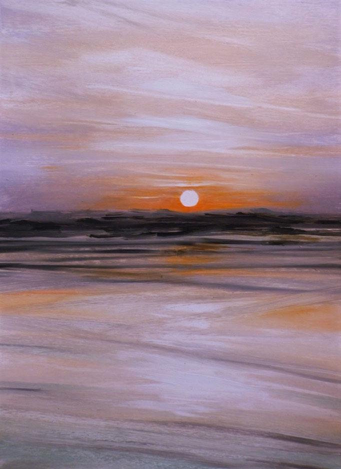 Sunset 51 - 24 x 33 cm  Ölfarbe auf Papier   45.00 €