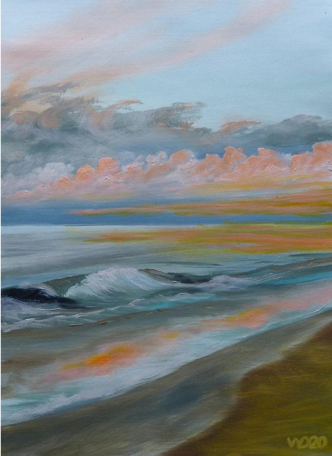 Sunset 65 - 24 x 33 cm  Ölfarbe auf Papier   45.00 €