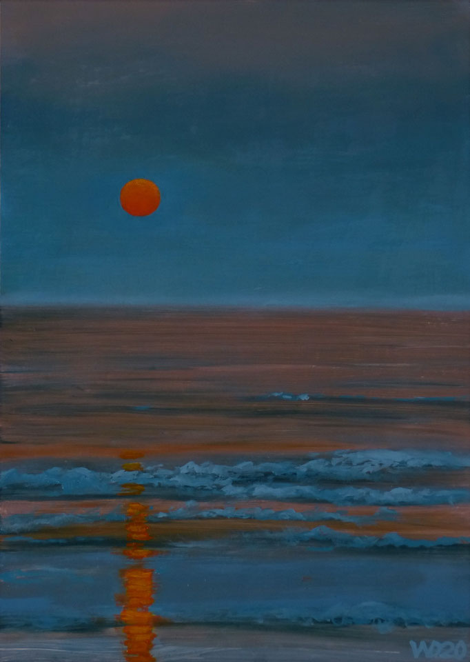 Sunset 19 - 24 x 33 cm  Ölfarbe auf Papier   45.00 €