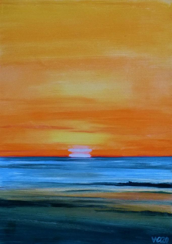 Sunset 78 - 24 x 33 cm  Ölfarbe auf Papier   45.00 €