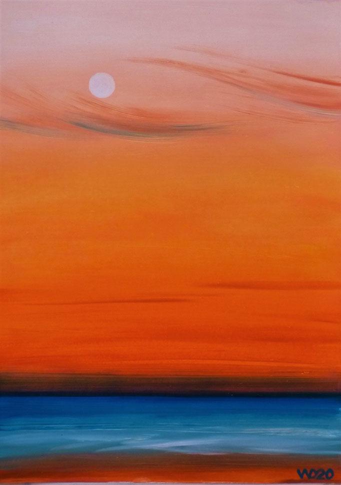 Sunset 35 - 24 x 33 cm  Ölfarbe auf Papier   45.00 €