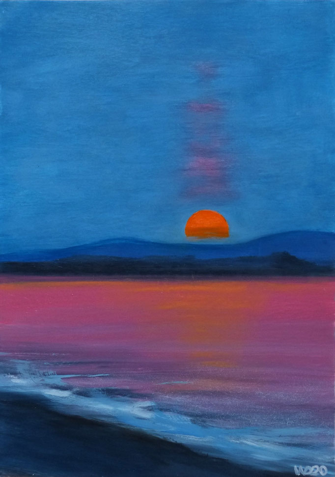 Sunset 43 - 24 x 33 cm  Ölfarbe auf Papier   45.00 €