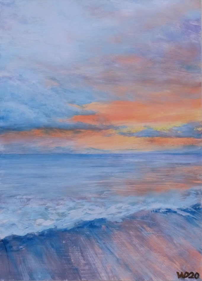 Sunset 39 - 24 x 33 cm  Ölfarbe auf Papier   45.00 €