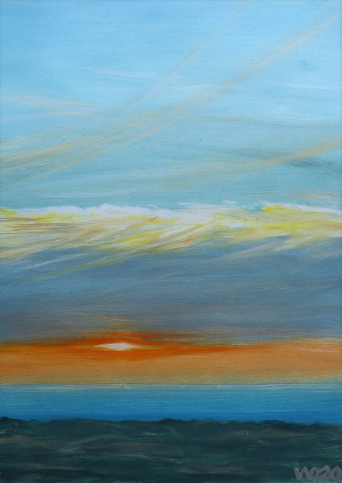 Sunset 60 - 24 x 33 cm  Ölfarbe auf Papier   45.00 €