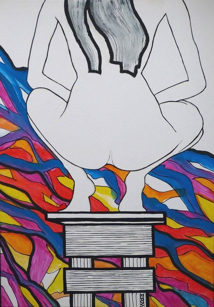 Sitz -  70 x 100cm  Acrylfarbe, Schlussfirnis  190€