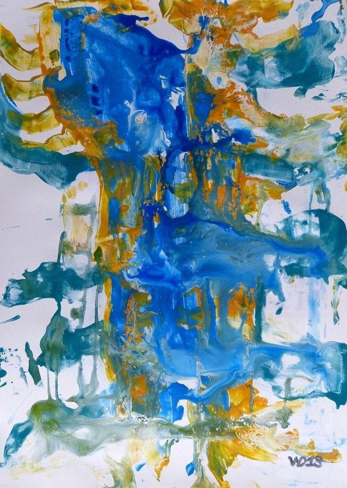 1218 - 48 x 67 cm  Acrylfarbe, Papier   71.00 €
